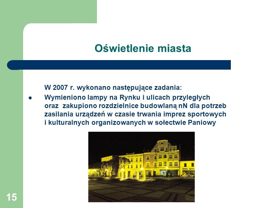 15 Oświetlenie miasta W 2007 r.