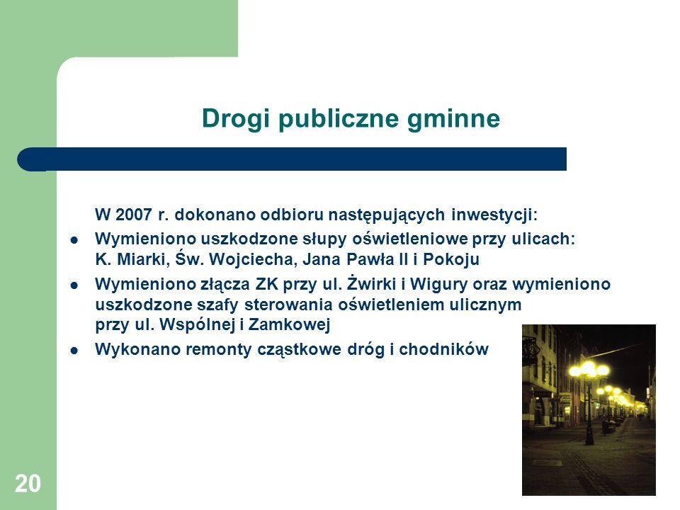20 Drogi publiczne gminne W 2007 r.