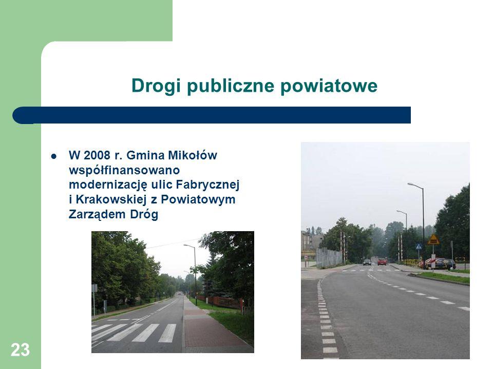 23 Drogi publiczne powiatowe W 2008 r.