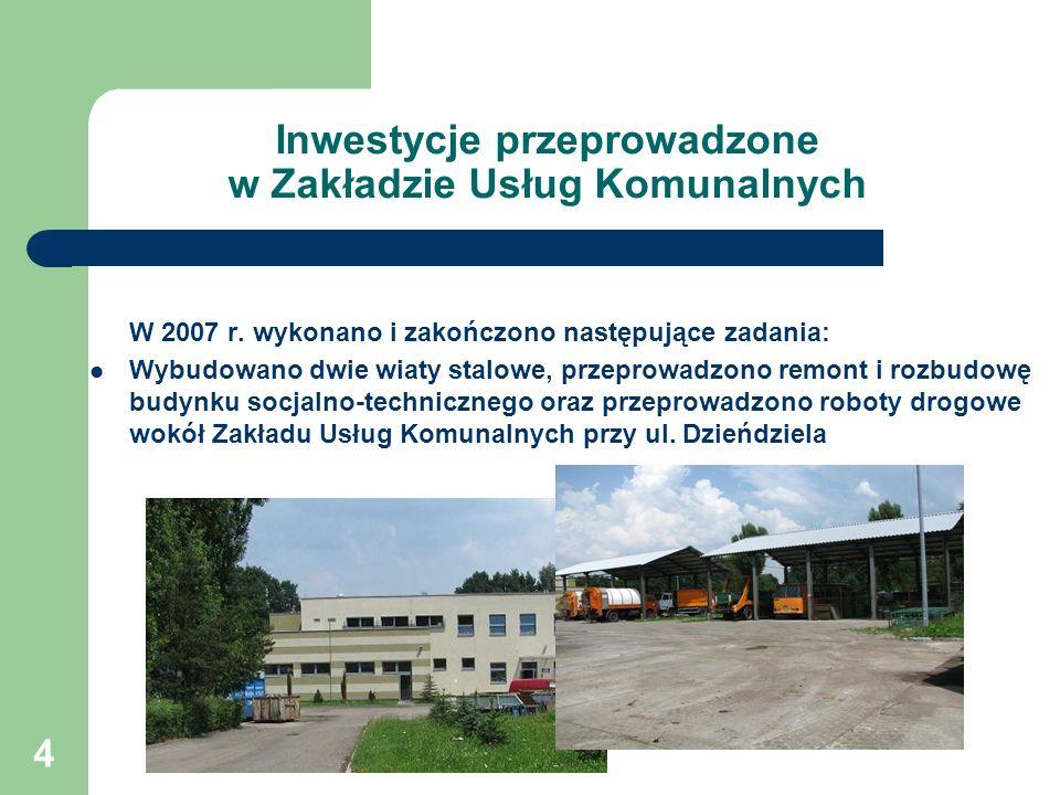 4 Inwestycje przeprowadzone w Zakładzie Usług Komunalnych W 2007 r.