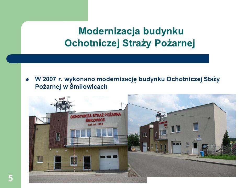 5 Modernizacja budynku Ochotniczej Straży Pożarnej W 2007 r.