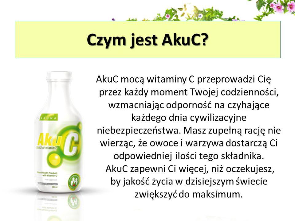 AkuC mocą witaminy C przeprowadzi Cię przez każdy moment Twojej codzienności, wzmacniając odporność na czyhające każdego dnia cywilizacyjne niebezpiec