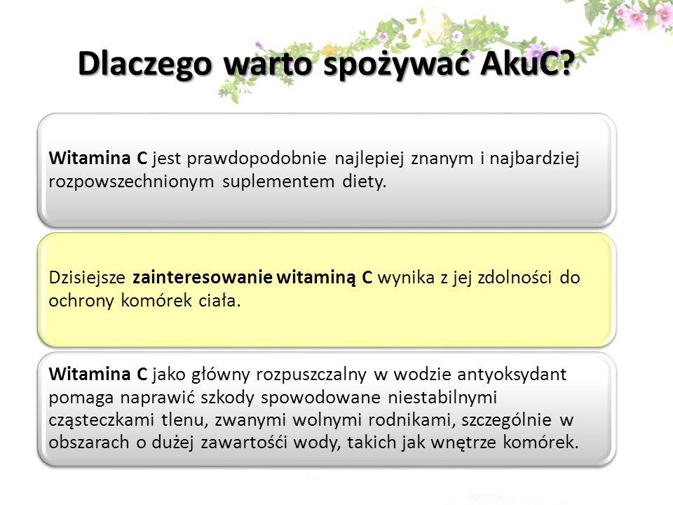 Dlaczego warto spożywać AkuC? Witamina C jest prawdopodobnie najlepiej znanym i najbardziej rozpowszechnionym suplementem diety. Dzisiejsze zaintereso