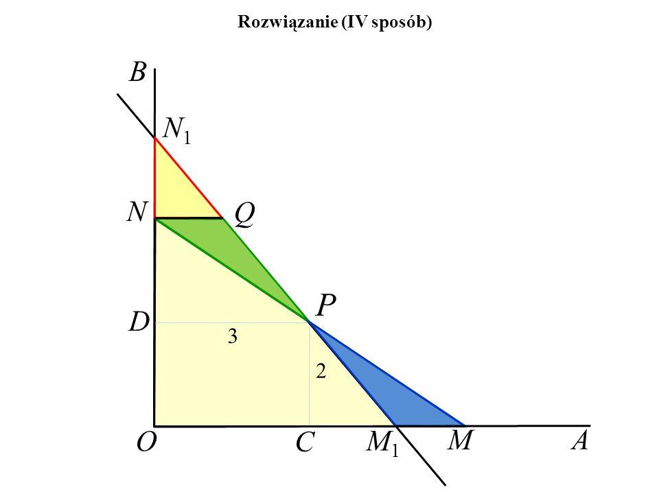 A B O P 3 2 N1N1 Q M M1M1 C D N Rozwiązanie (IV sposób)