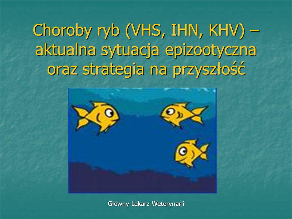 Choroby ryb (VHS, IHN, KHV) – aktualna sytuacja epizootyczna oraz strategia na przyszłość Główny Lekarz Weterynarii