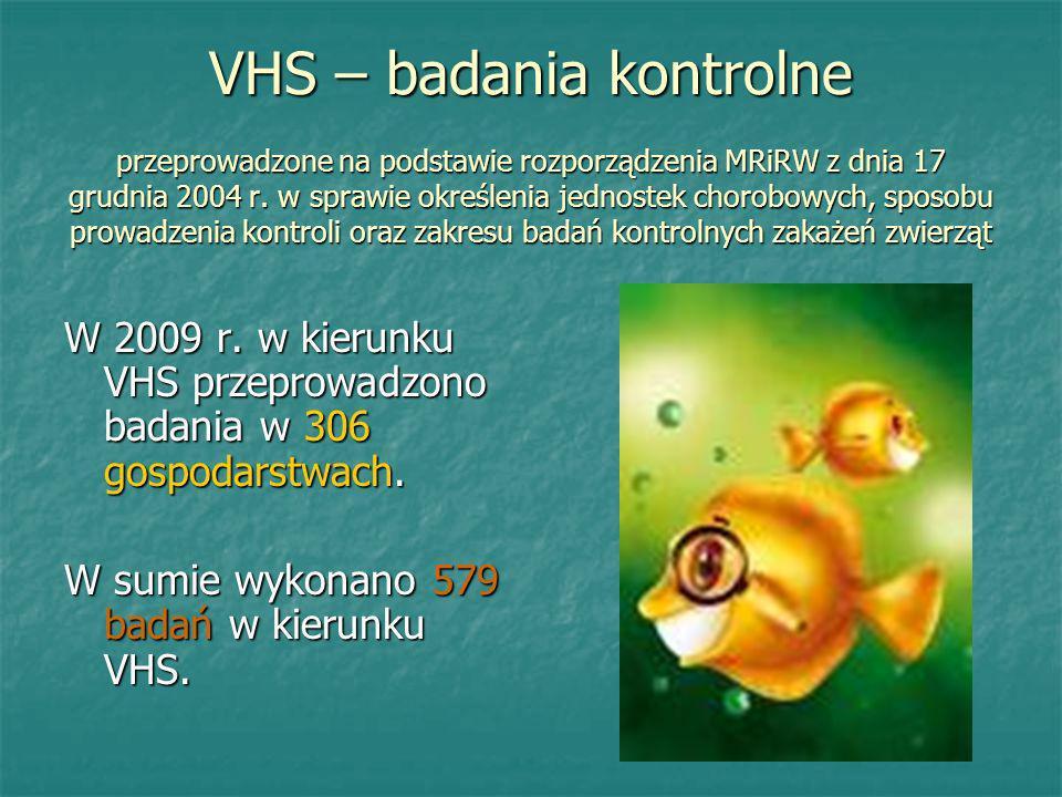VHS – badania kontrolne przeprowadzone na podstawie rozporządzenia MRiRW z dnia 17 grudnia 2004 r. w sprawie określenia jednostek chorobowych, sposobu