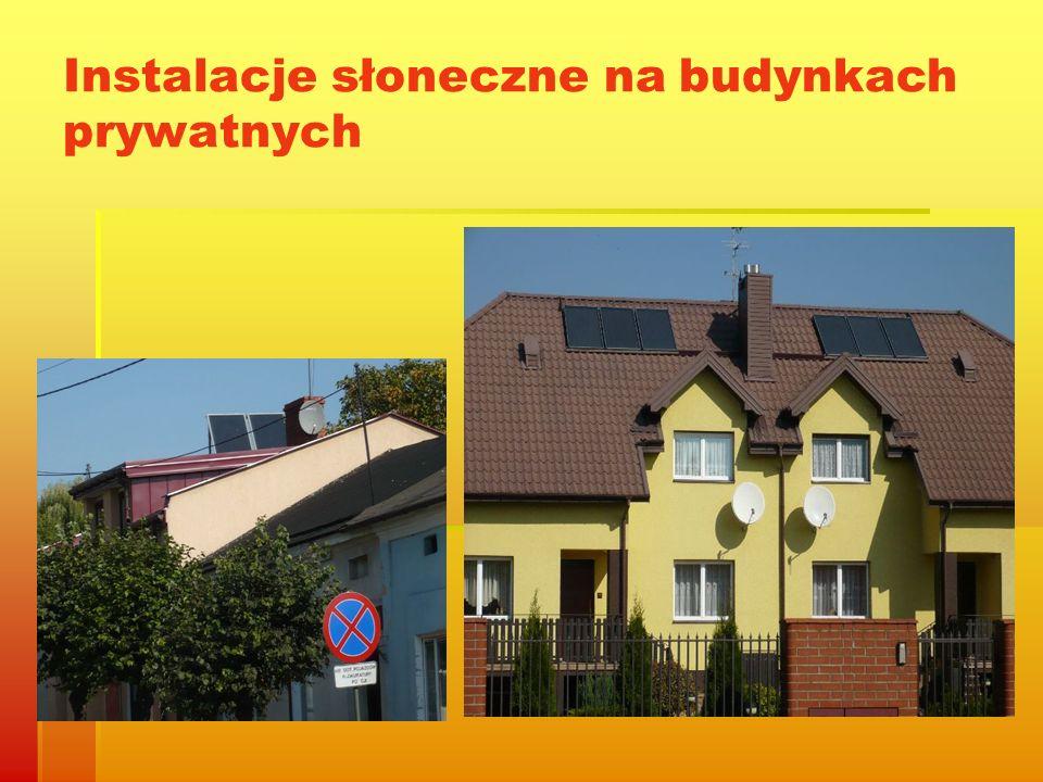 Instalacje słoneczne na budynkach prywatnych