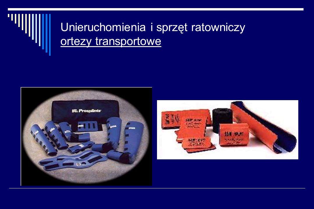 Unieruchomienia i sprzęt ratowniczy ortezy transportowe