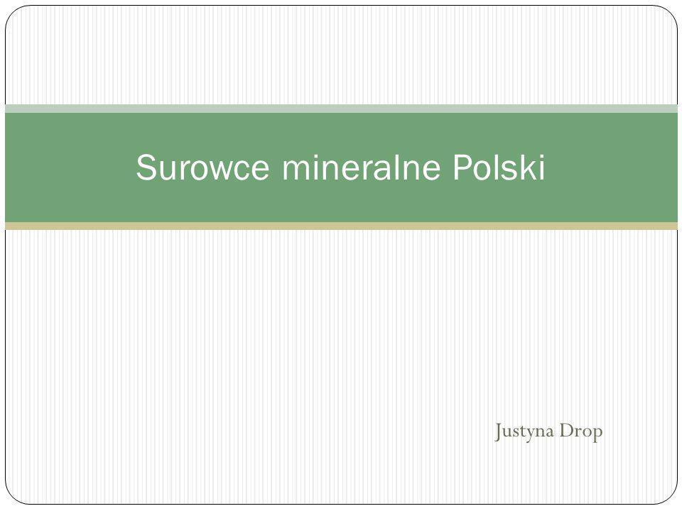 Justyna Drop Surowce mineralne Polski