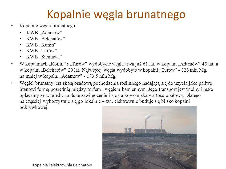 Zmiany w krajobrazie po wydobyciu węgla brunatnego Kopalnia odkrywkowa w Bełchatowie odsłania najzasobniejsze, i zarazem najmłodsze, złoże węgla brunatnego.