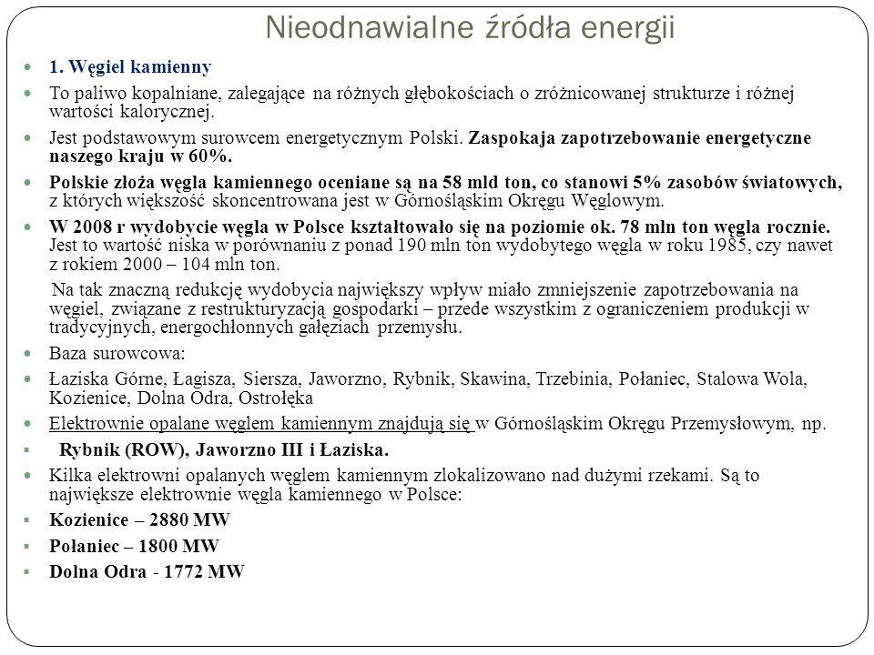 Elektrownia Rybnik Moc zainstalowana1 775 MW Produkcja energii elektrycznej brutto 8 778 431 MWh Obecnie Elektrownia Rybnik S.A.