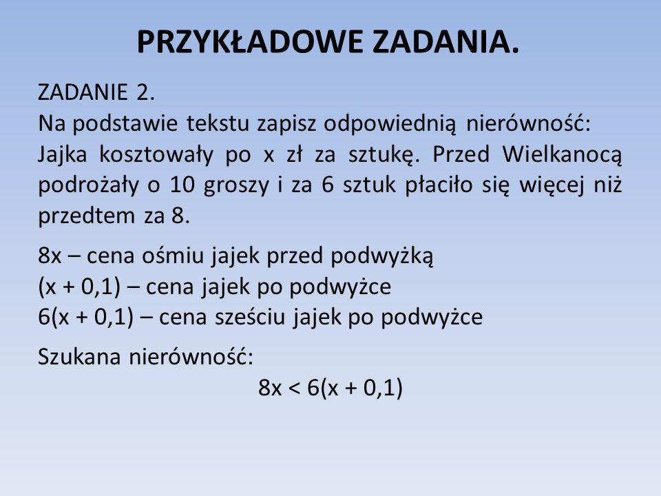 PRZYKŁADOWE ZADANIA.ZADANIE 3.