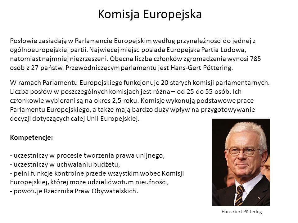 W ramach Parlamentu Europejskiego funkcjonuje 20 stałych komisji parlamentarnych. Liczba posłów w poszczególnych komisjach jest różna – od 25 do 55 os