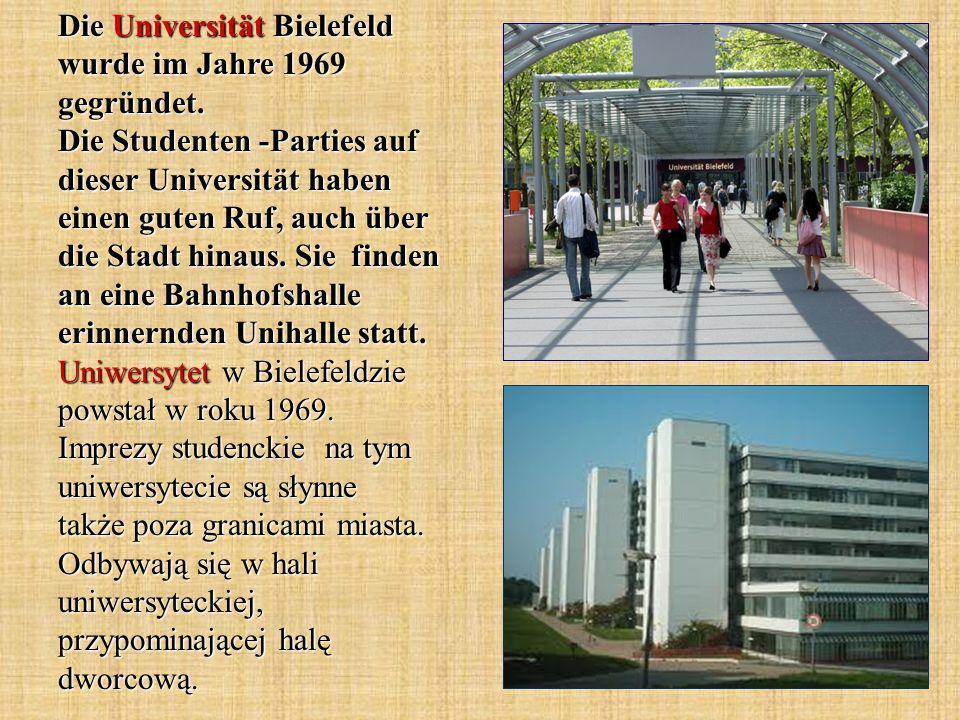 Die Universität Bielefeld wurde im Jahre 1969 gegründet.