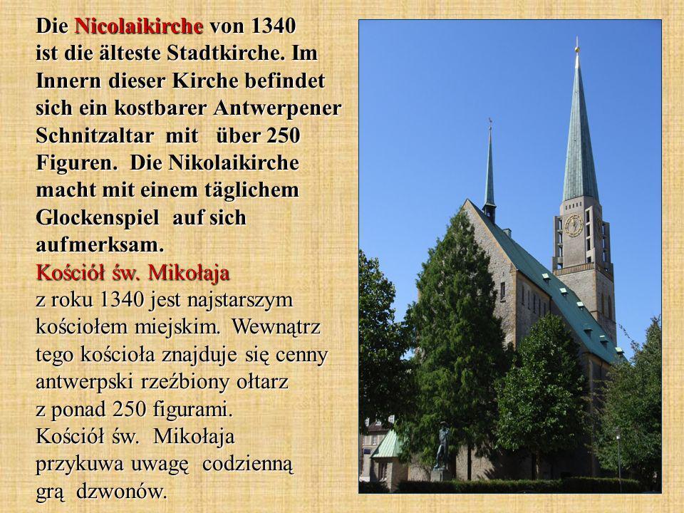 Die Nicolaikirche von 1340 ist die älteste Stadtkirche.