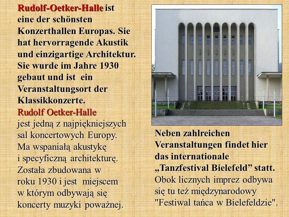 Rudolf-Oetker-Halle ist eine der schönsten Konzerthallen Europas.
