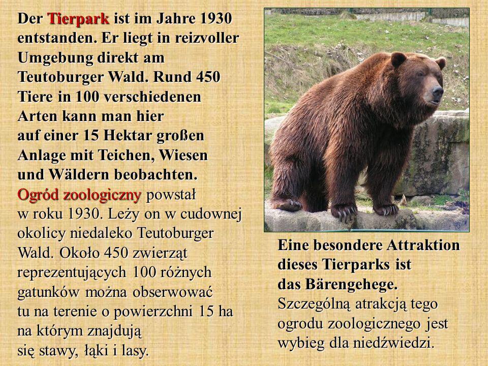 Der Tierpark ist im Jahre 1930 entstanden.