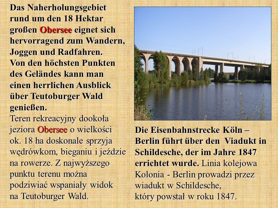 Die Eisenbahnstrecke Köln – Berlin führt über den Viadukt in Schildesche, der im Jahre 1847 errichtet wurde.
