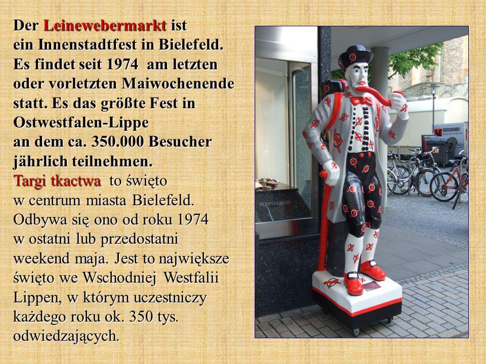 Der Leinewebermarkt ist ein Innenstadtfest in Bielefeld.