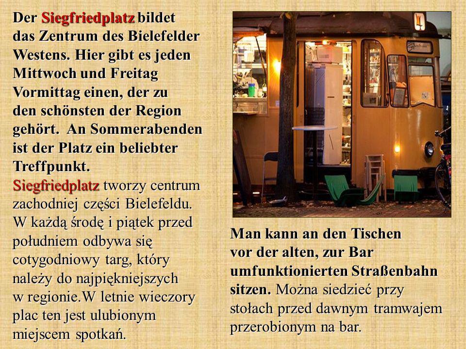 Der Siegfriedplatz bildet das Zentrum des Bielefelder Westens.