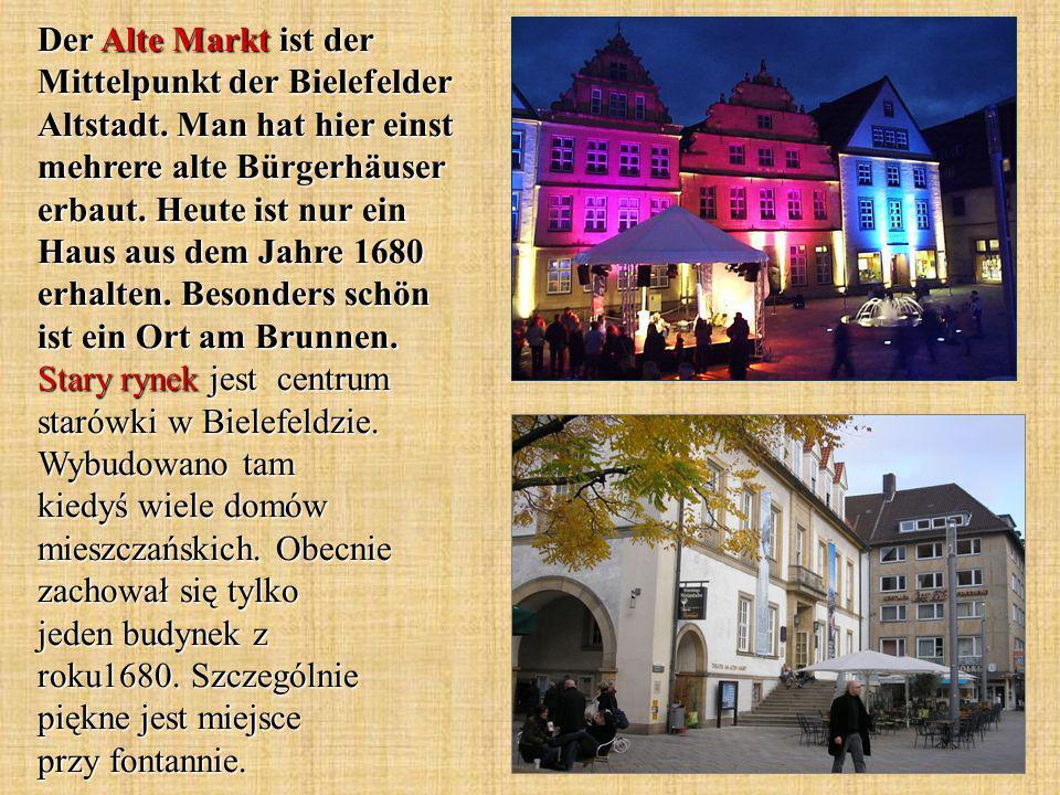 Der Alte Markt ist der Mittelpunkt der Bielefelder Altstadt.