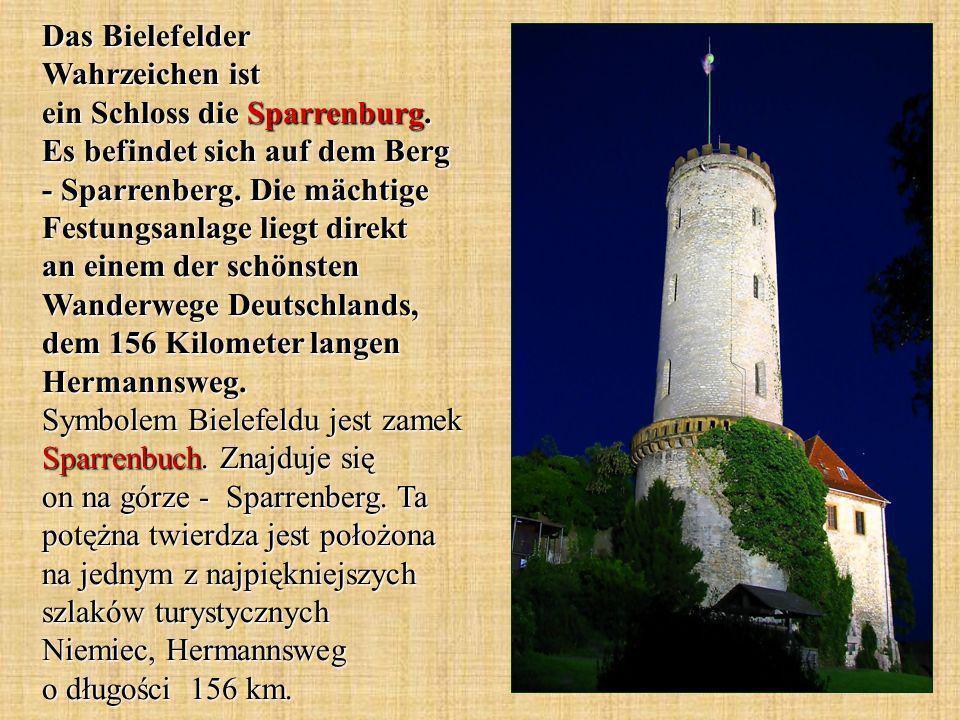 Das Bielefelder Wahrzeichen ist ein Schloss die Sparrenburg.