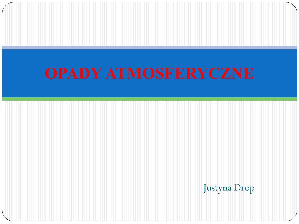 Justyna Drop OPADY ATMOSFERYCZNE
