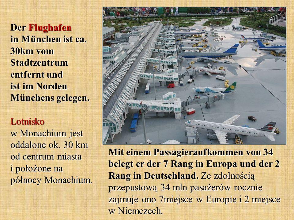 Mit einem Passagieraufkommen von 34 belegt er der 7 Rang in Europa und der 2 Rang in Deutschland. Ze zdolnością przepustową 34 mln pasażerów rocznie z