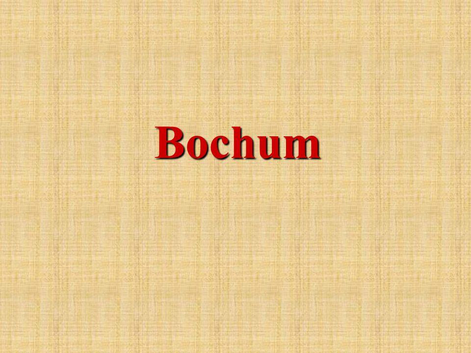 Bochum ist das Zentrum des Ruhrgebiets im Land Nordrhein - Westfalen.