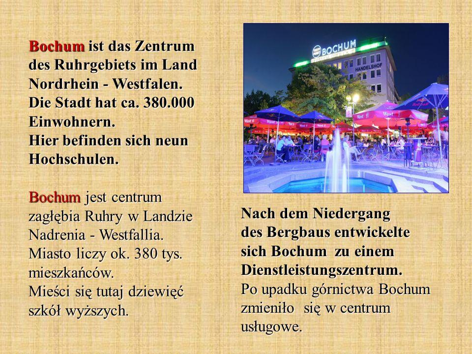 Das Fördergerüst und das Deutsche Bergbaumuseum stellen das Wahrzeichen der Stadt Bochum dar.