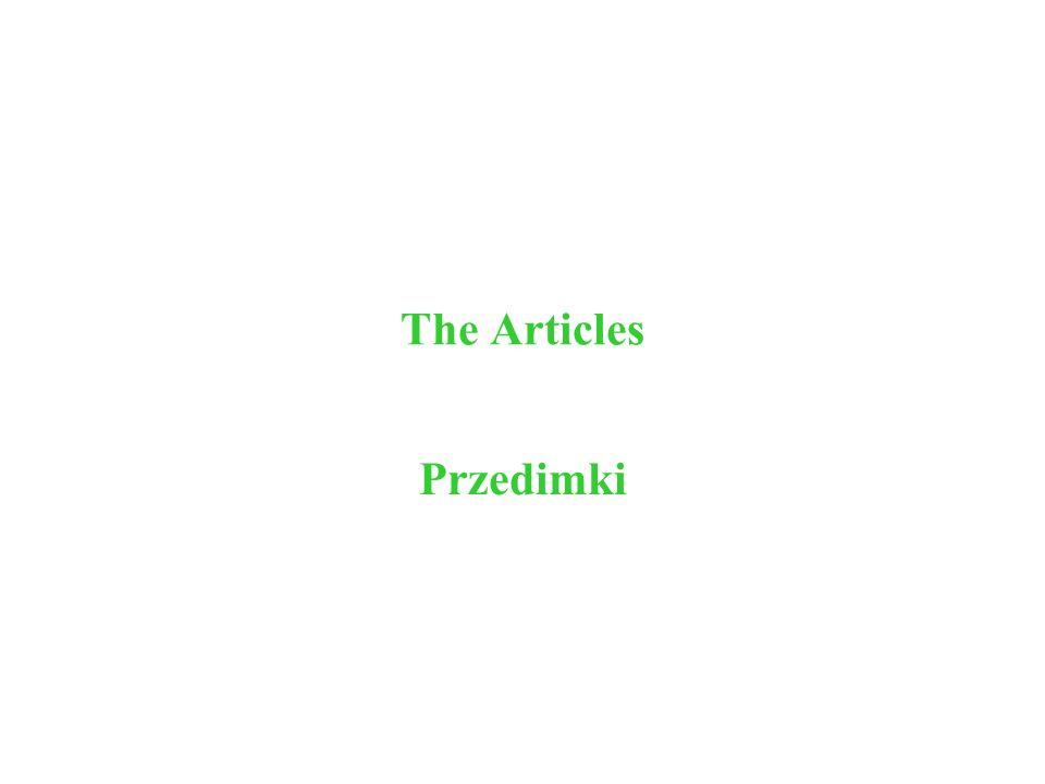 The Articles Przedimki
