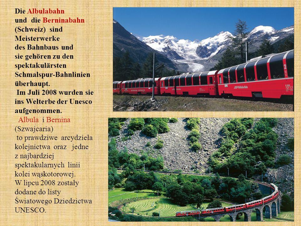 Die Albulabahn und die Berninabahn (Schweiz) sind Meisterwerke des Bahnbaus und sie gehören zu den spektakulärsten Schmalspur-Bahnlinien überhaupt.
