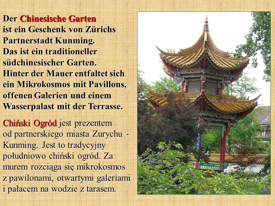 Der Chinesische Garten ist ein Geschenk von Zürichs Partnerstadt Kunming.