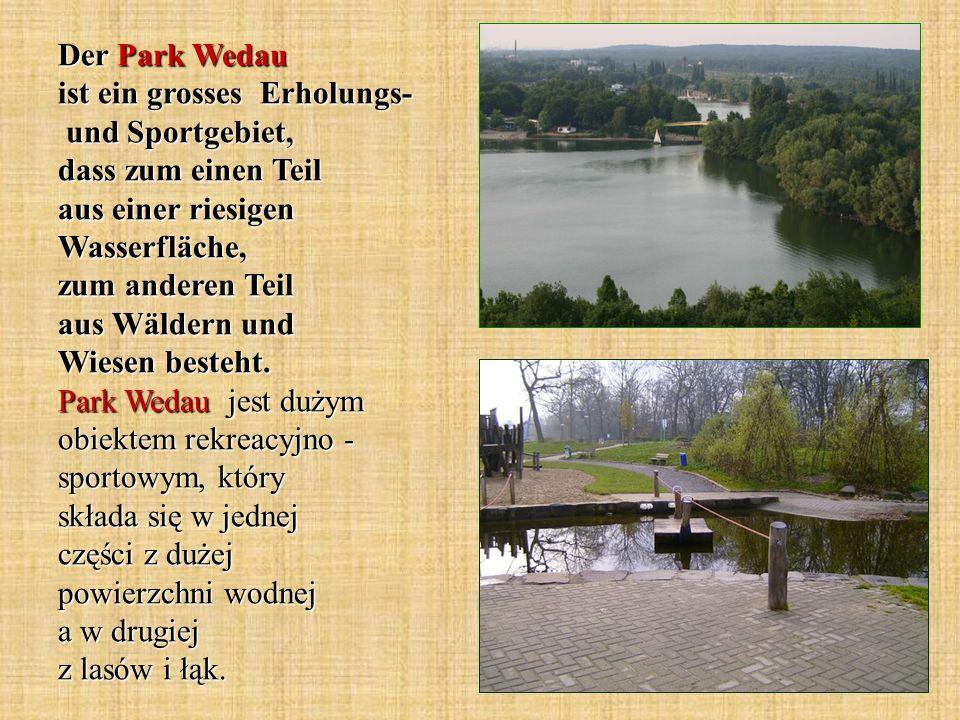 Der Park Wedau ist ein grosses Erholungs- und Sportgebiet, dass zum einen Teil aus einer riesigen Wasserfläche, zum anderen Teil aus Wäldern und Wiese