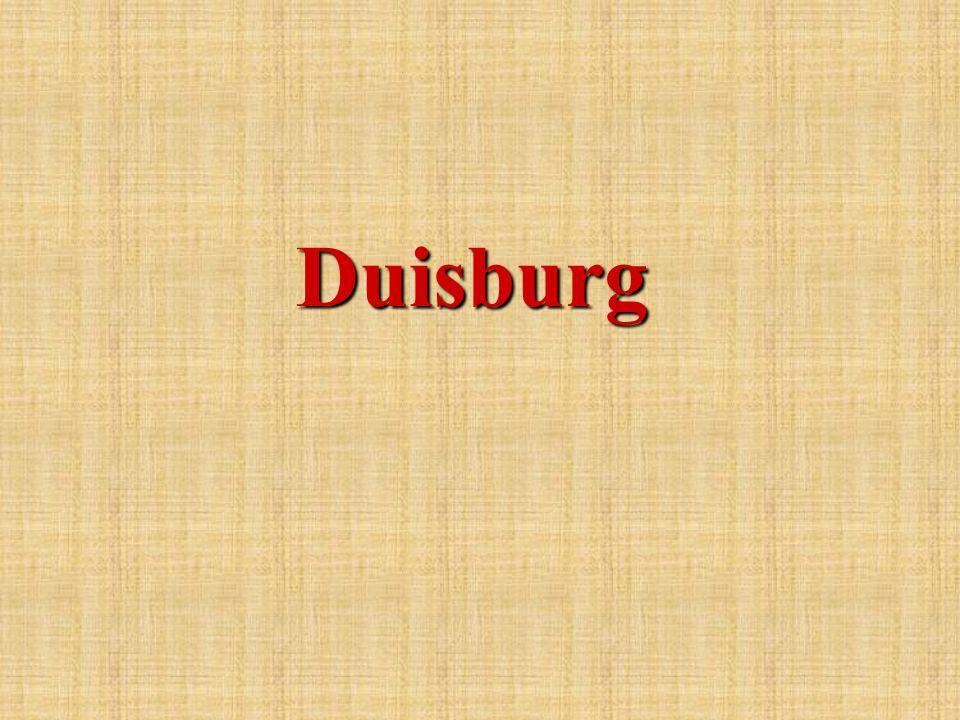 Die Stadt Duisburg liegt am westlichen Rand des Ruhrgebietes.