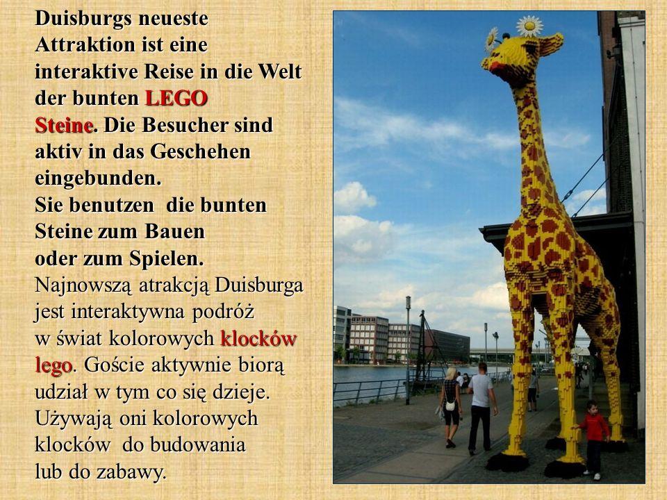Duisburgs neueste Attraktion ist eine interaktive Reise in die Welt der bunten LEGO Steine. Die Besucher sind aktiv in das Geschehen eingebunden. Sie