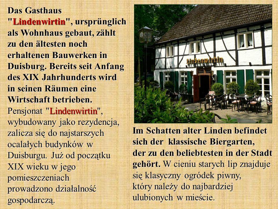 Im Schatten alter Linden befindet sich der klassische Biergarten, der zu den beliebtesten in der Stadt gehört. W cieniu starych lip znajduje się klasy