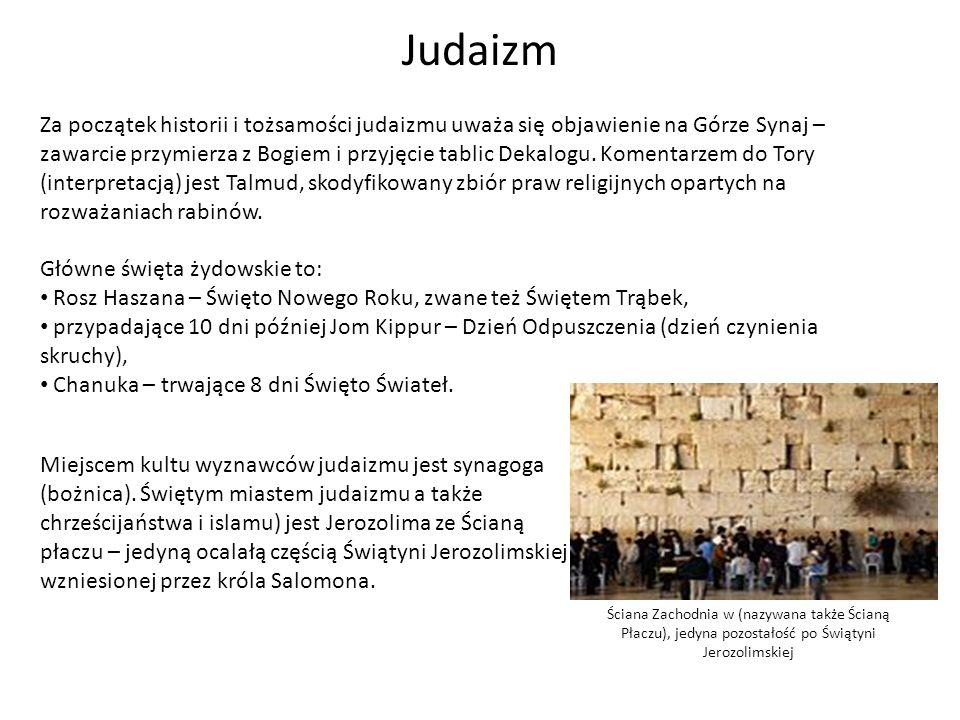 Za początek historii i tożsamości judaizmu uważa się objawienie na Górze Synaj – zawarcie przymierza z Bogiem i przyjęcie tablic Dekalogu. Komentarzem