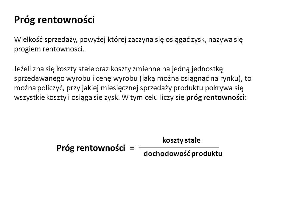 Wskaźniki rentowności Wskaźniki rentowności informują, jaka jest rentowność firmy.
