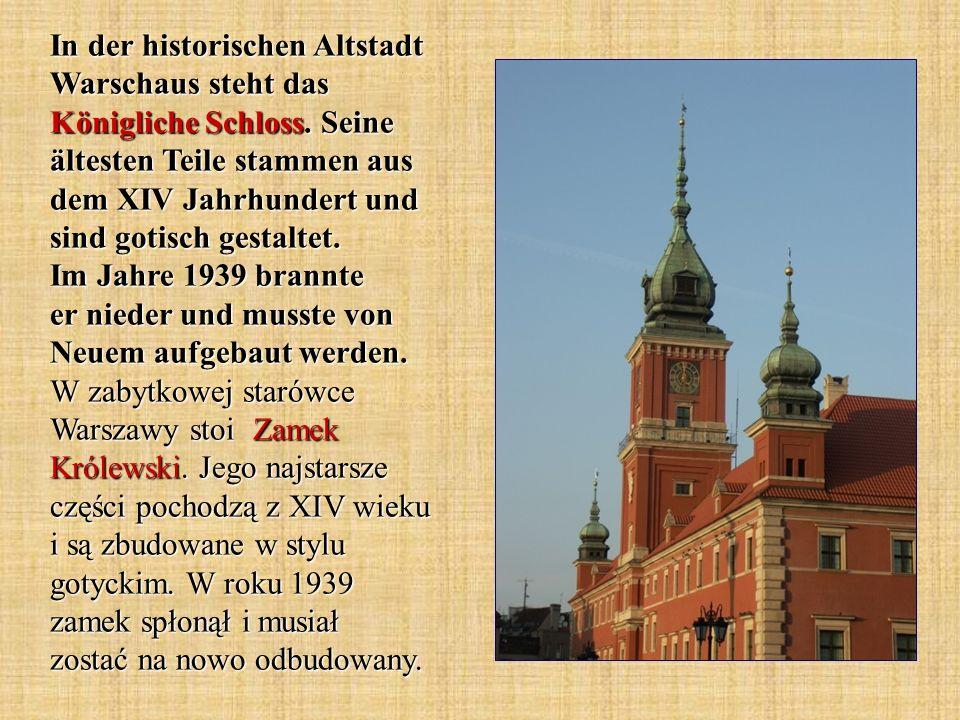 In der historischen Altstadt Warschaus steht das Königliche Schloss.