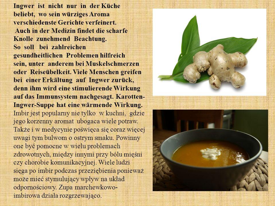 Ingwer ist nicht nur in der Küche beliebt, wo sein würziges Aroma verschiedenste Gerichte verfeinert.