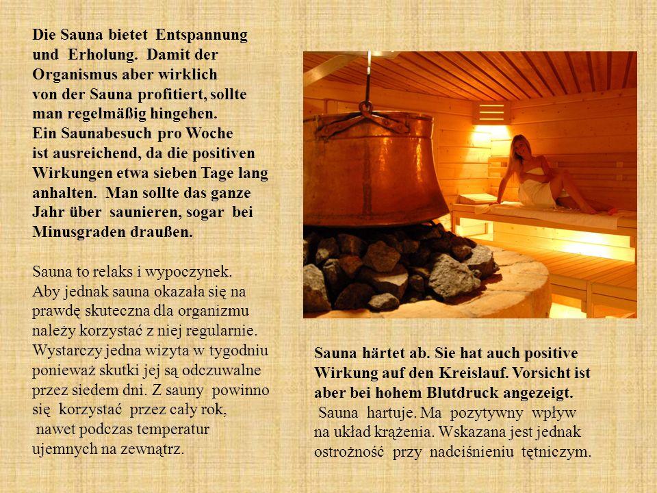 Die Sauna bietet Entspannung und Erholung.