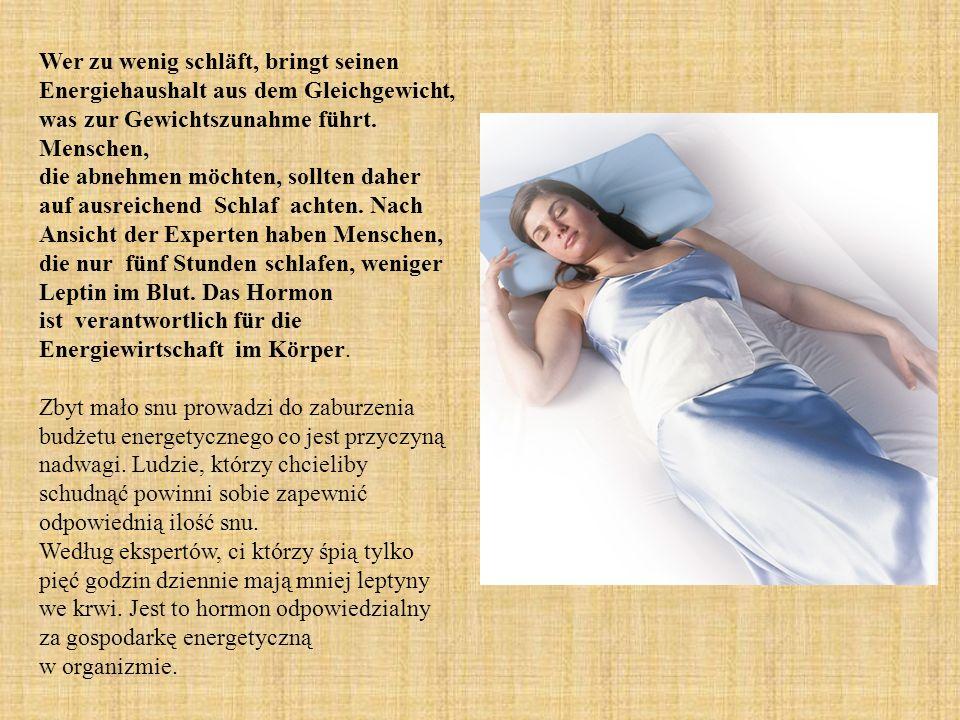 Wer zu wenig schläft, bringt seinen Energiehaushalt aus dem Gleichgewicht, was zur Gewichtszunahme führt.