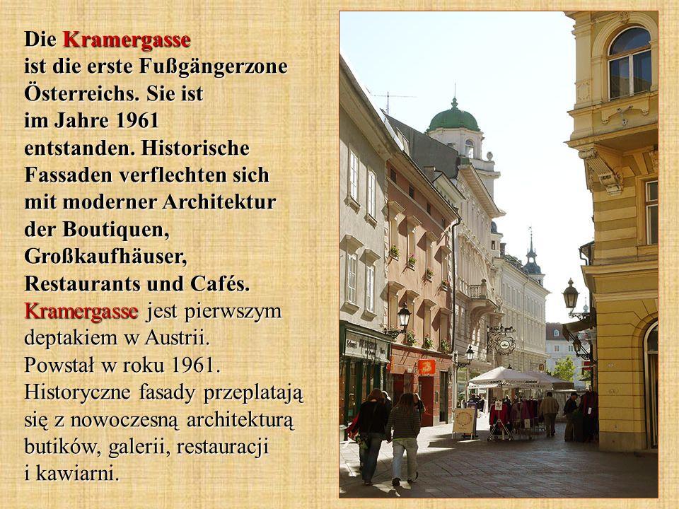 Die Kramergasse ist die erste Fußgängerzone Österreichs.