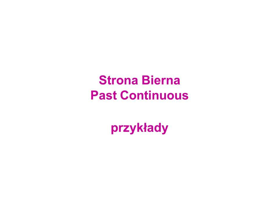 Strona Bierna Past Continuous przykłady
