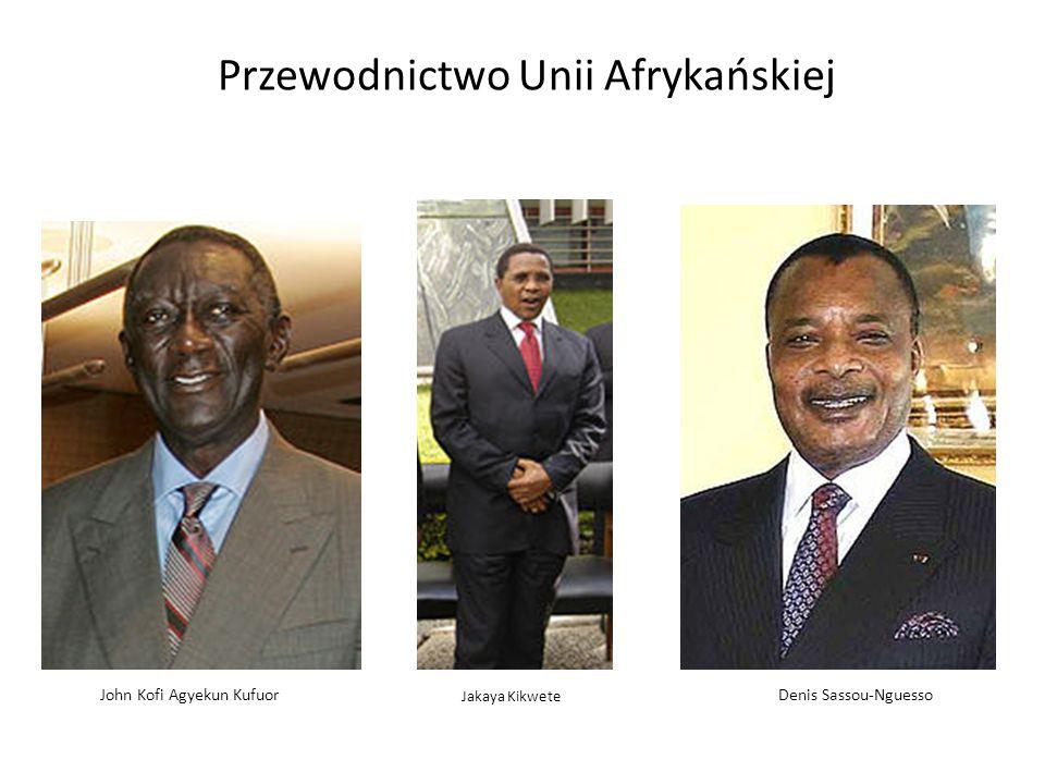 Denis Sassou-Nguesso Przewodnictwo Unii Afrykańskiej John Kofi Agyekun Kufuor Jakaya Kikwete