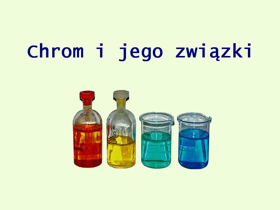 2.Reakcja z zasadami: Do osadu Cr(OH) 3 dodano roztwór wodorotlenku sodu.