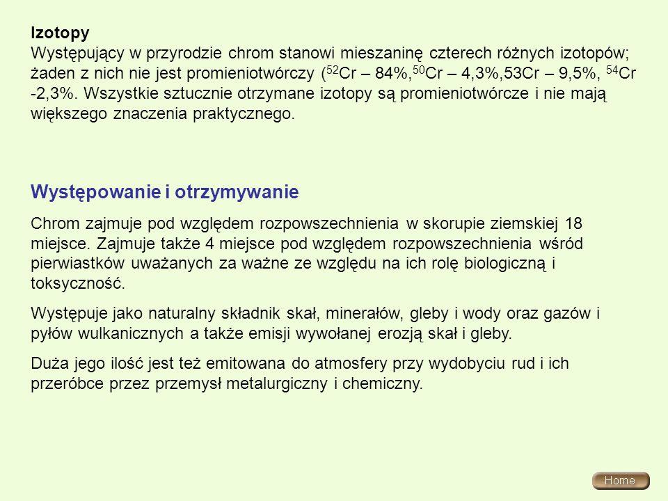 Chromiany i dichromiany(VI) /dwuchromiany (VI)/ Chromiany(VI) - sole kwasu chromowego(VI) H 2 CrO 4.