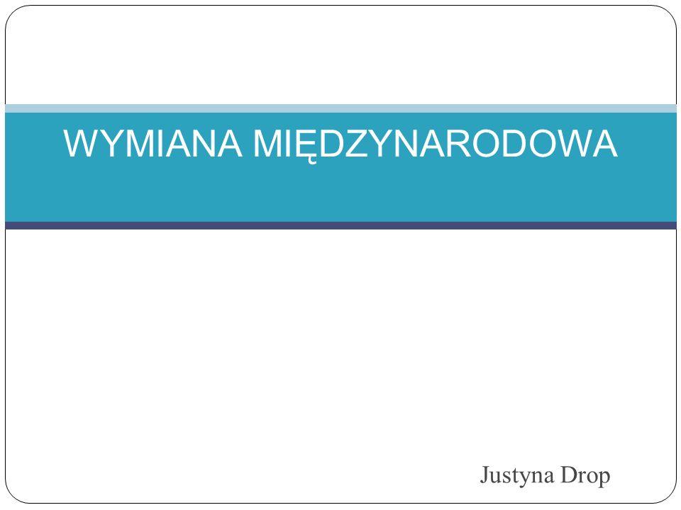 Justyna Drop WYMIANA MIĘDZYNARODOWA