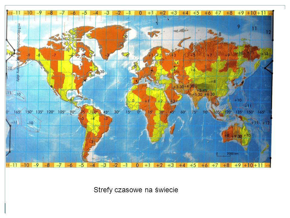 Strefy czasowe na świecie